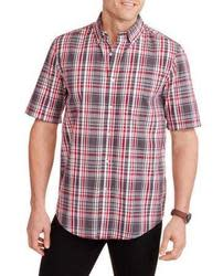 George Men's Short Sleeve Plaid Woven Shirt for $5