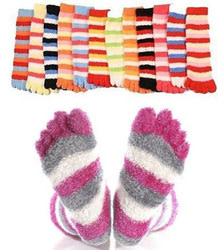 Fuzzy Toe Socks 3-Pack for $5 + free shipping