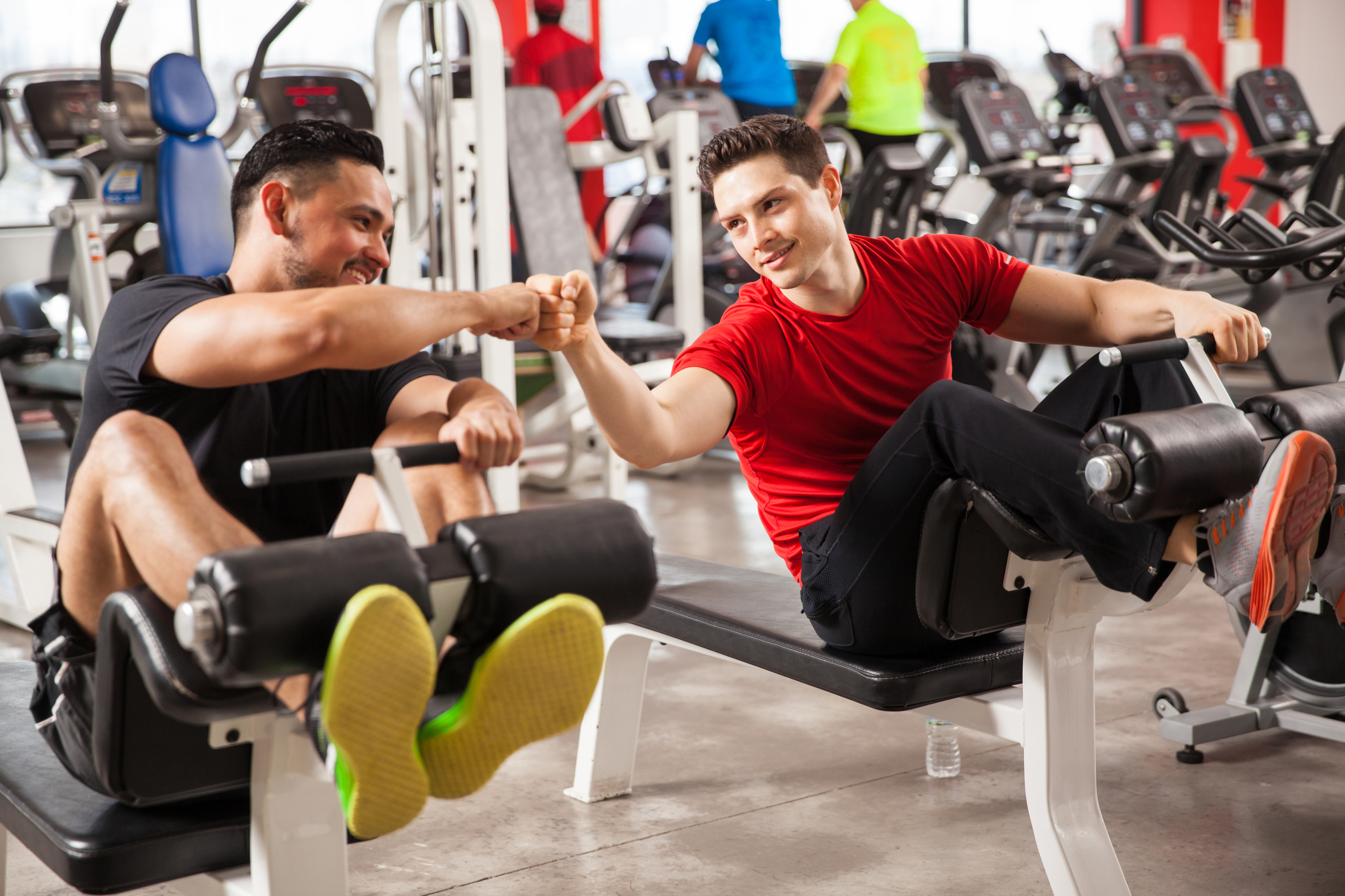 fist bump at gym