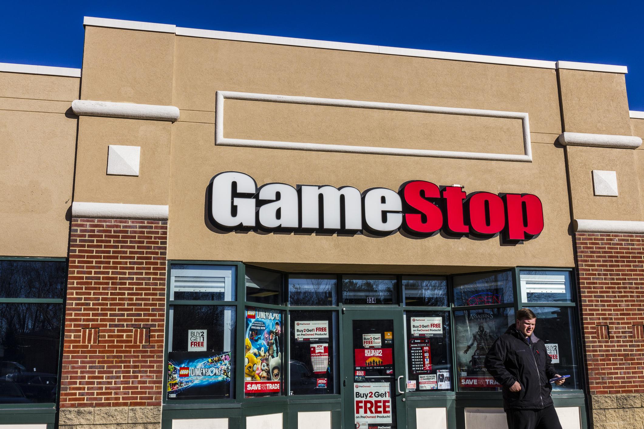 exterior of GameStop store