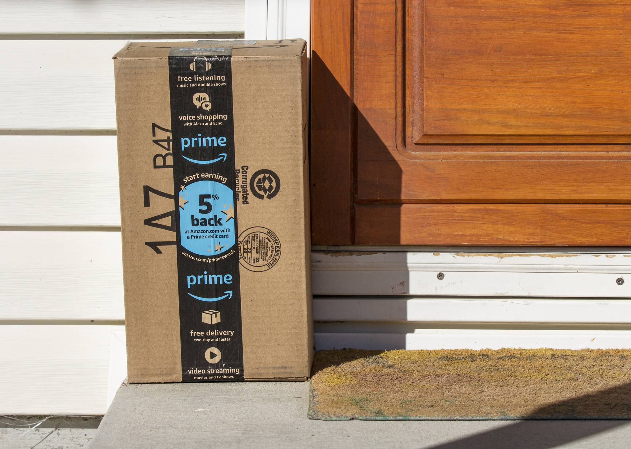 Prime box on doorstep