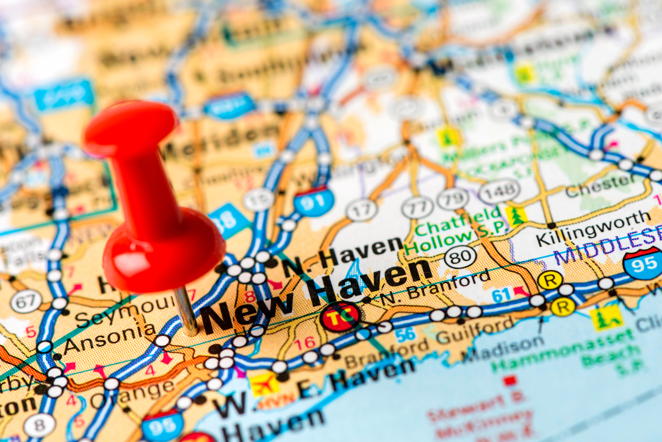 New Haven on map
