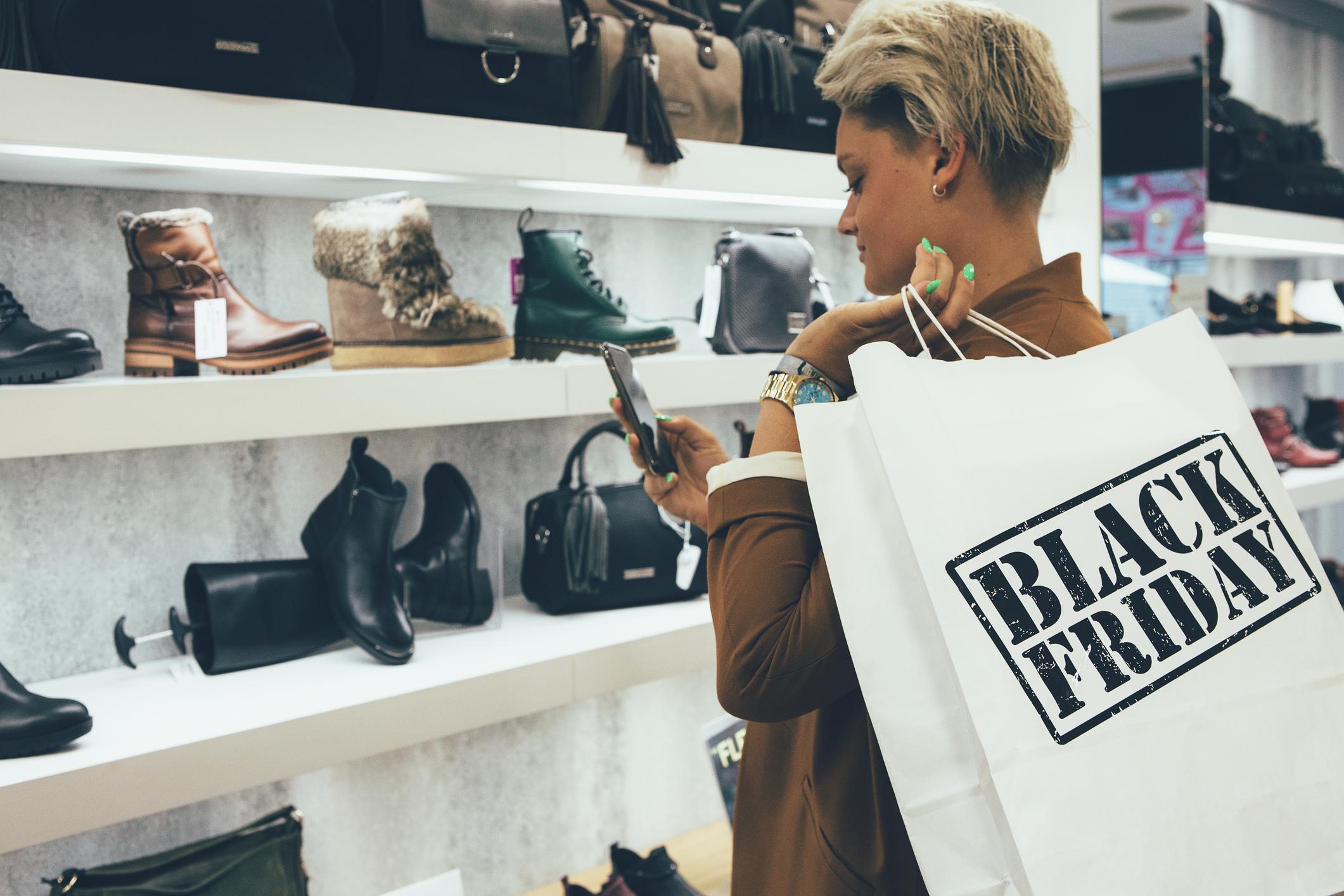 Black Friday shoe shopping
